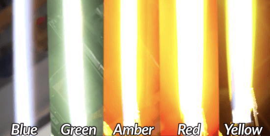 chemical changes to color a real lighsaber