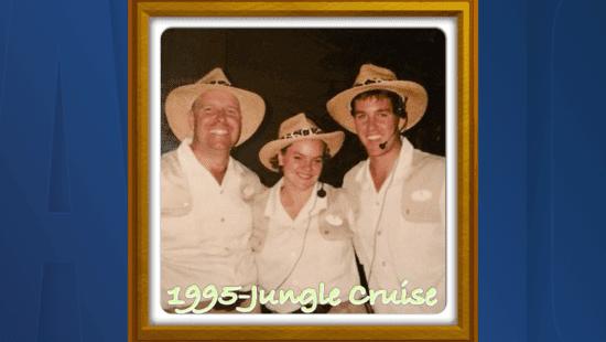 Downey (center) in Jungle Cruise Skipper Uniform