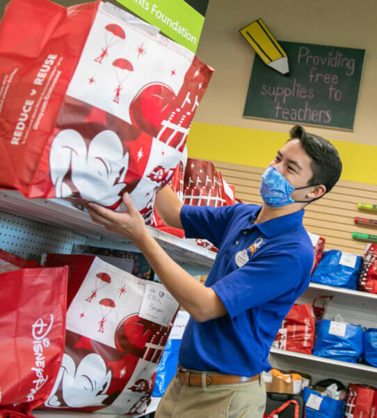 disney world donates school supplies