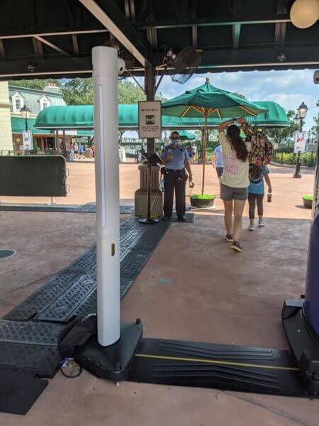 epcot contactless security