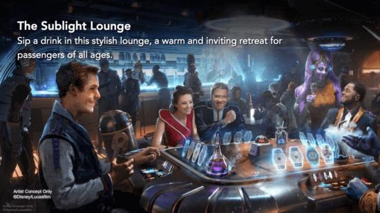 galactic starcruiser sublight lounge