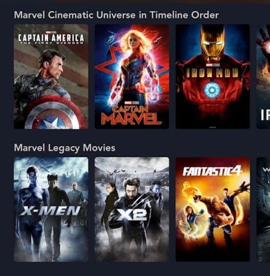 Marvel Legacy Category now on Disney+