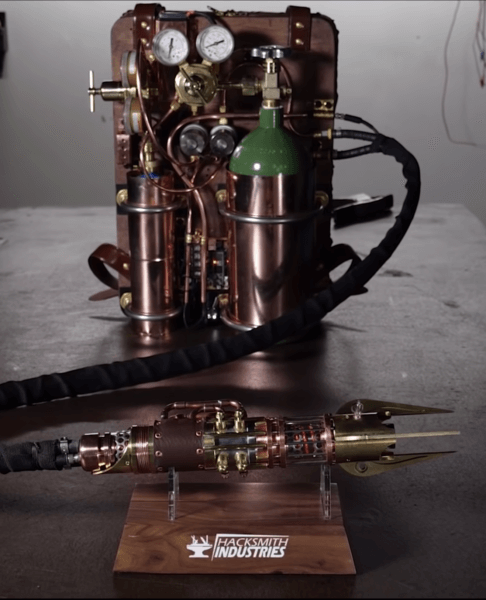 Real lightsaber, steam punk style finished product