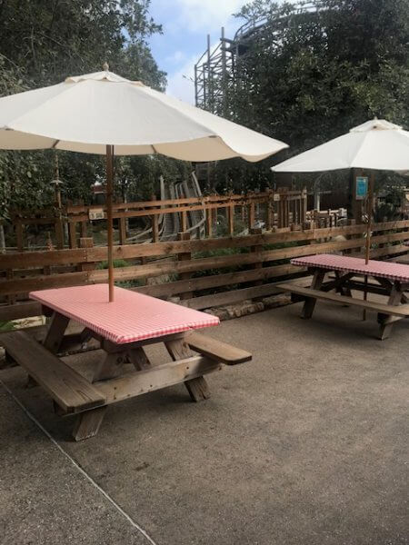 social distanced seating at knotts