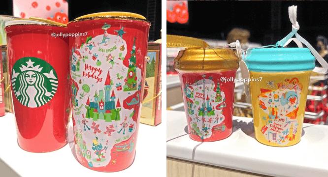 Disney and Starbucks Reveal NEW Christmas Mug & Ornaments | Inside