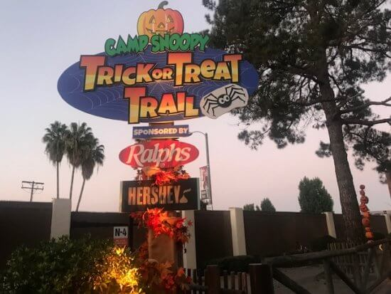 trick or treating trail at camp snoopy