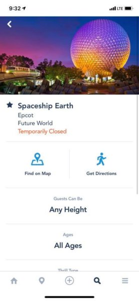 Spaceship Earth Temporarily Closed