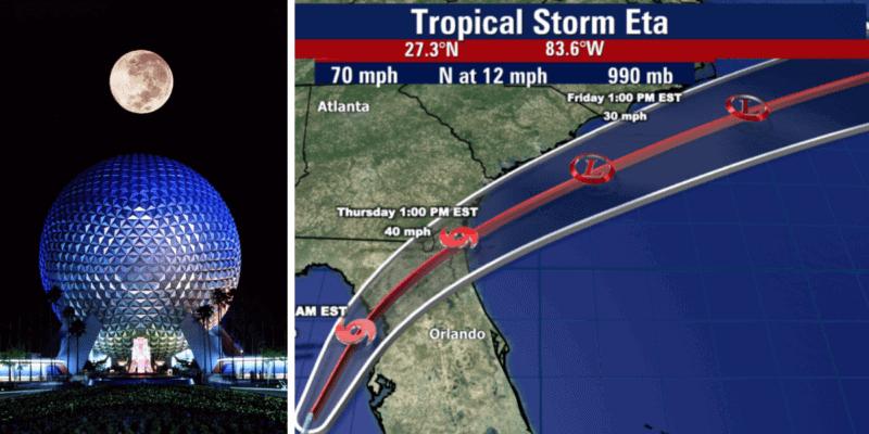 Tropical Storm Eta Disney World