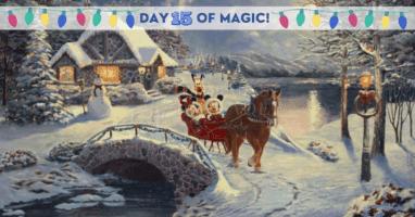 Thomas Kinkade Disney Sleigh Ride
