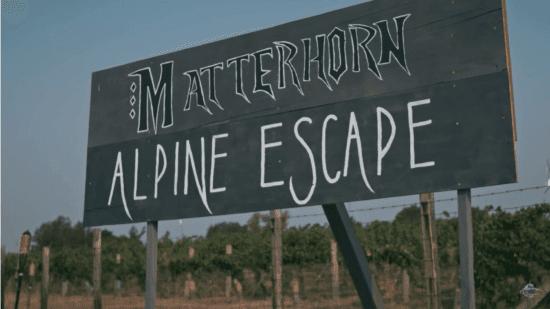 matterhorn backyard sign