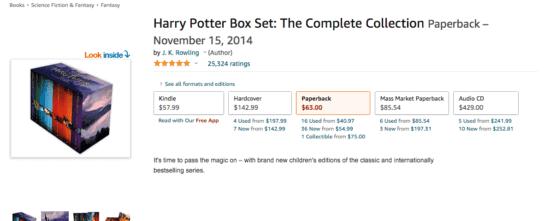 harry potter deals