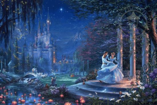 cinderella dancing in the starlight thomas kinkade