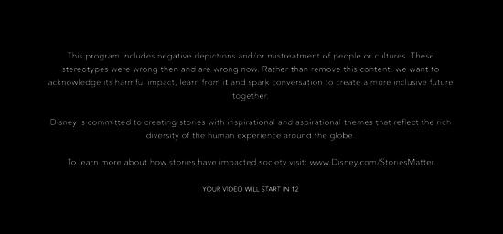 disney+ warning