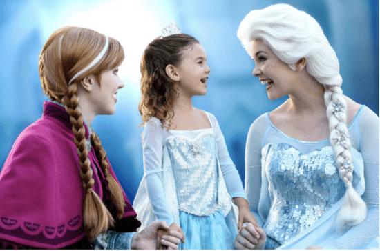 frozen anna and elsa disneyland