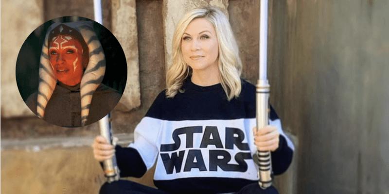 Ashley Eckstein in 'Star Wars' Sweater