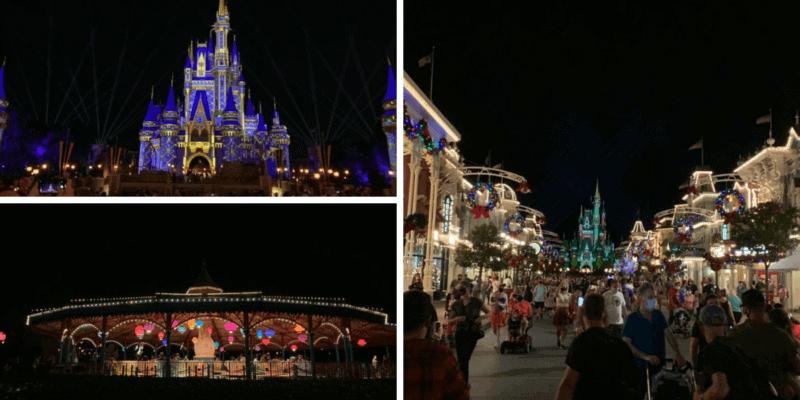 magic kingdom at night christmas