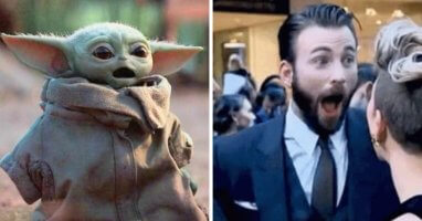 Baby Yoda Chris Evans