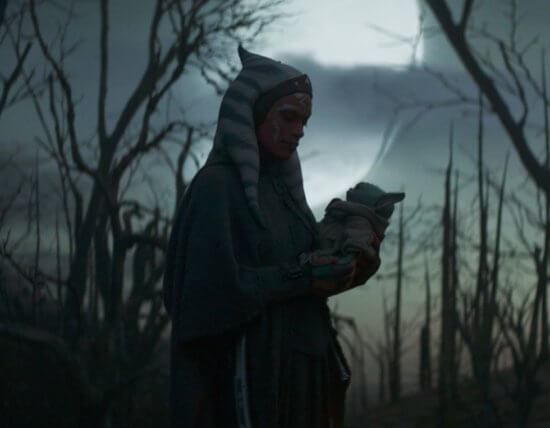 ahsoka holding baby yoda