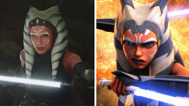 why is ahsoka tano's appearance different in the mandalorian