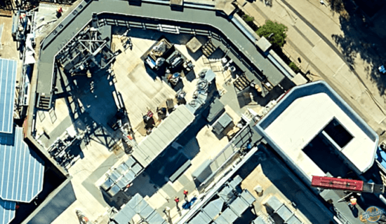 avengers campus aerial view