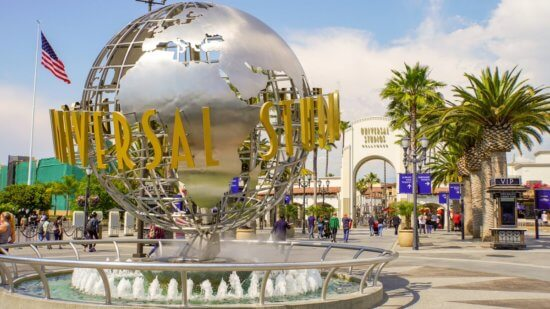 universal studios globe fountain hollywood