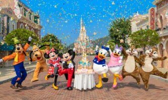 hong kong disneyland celebrates anniversary with reimagined castle
