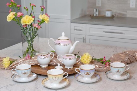 Disney tea set real in kitchen