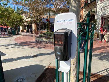 hand sanitizing station at DCA