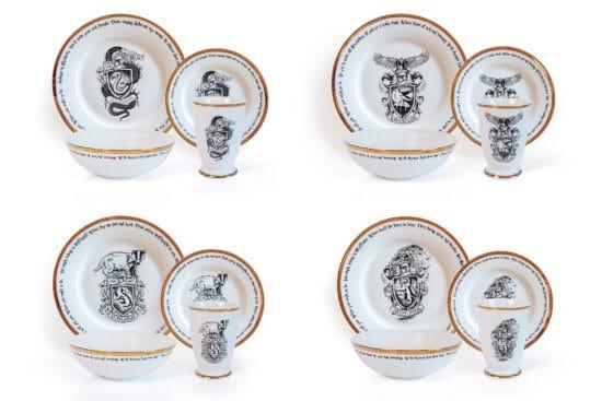 Harry Potter House Logos 16 Piece Ceramic Dinnerware Set