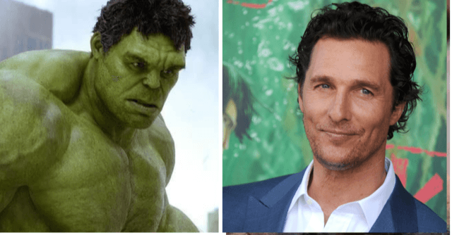 matthew mcconaughey almost cast as the hulk