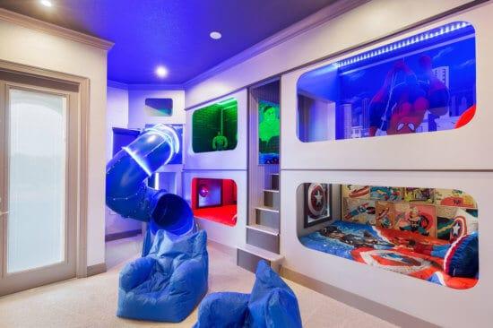 Marvel-themed bedroom