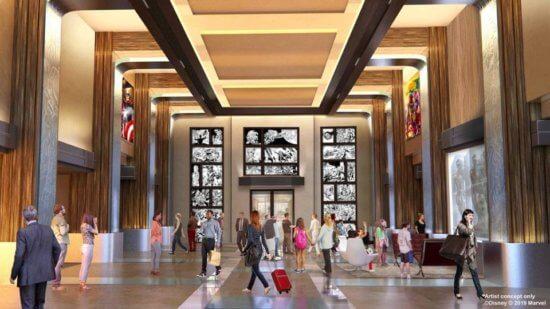 marvel hotel lobby