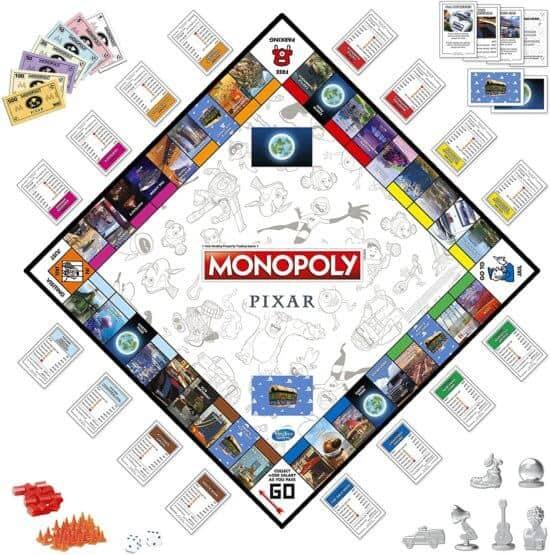 Pixar 2020 Monopoly board