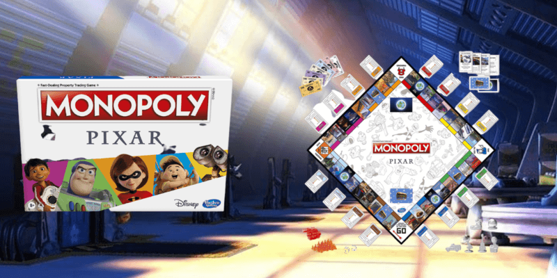 Pixar Monopoly board