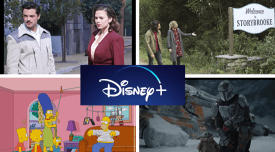 the top ten shows currently on Disney+