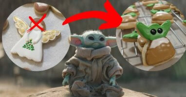baby yoda cookie