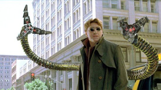 alfred molina as spider man doctor octopus