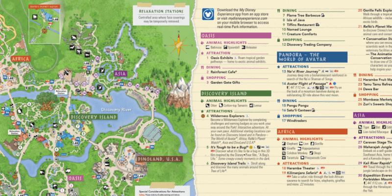 Animal Kingdom Park Map