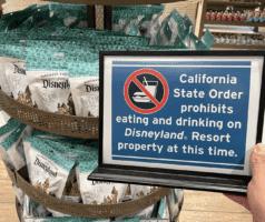 no eating or drinking disneyland