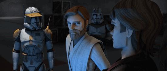 "Commander Cody with Obi-Wan and Anakin, ""Star Wars: Clone Wars"""