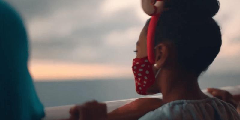 disney cruise line girl in mask