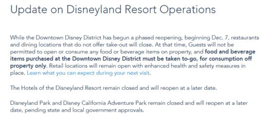 disneyland update