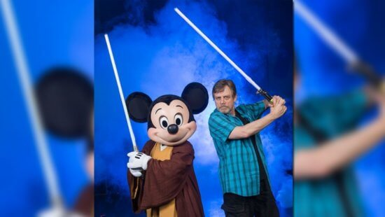 mickey mouse (left) and mark hamill (right)