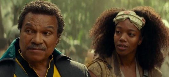 Lando (left) and jannah (right) in rise of skywalker