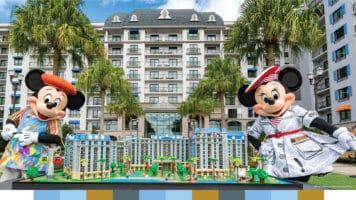 LEGO model of Disney's Riviera Resort