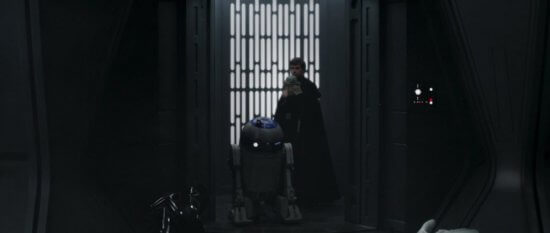 r2-d2 and luke skywalker with grogu in the mandalorian chapter 16