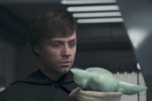 Luke Skywalker and Grogu,