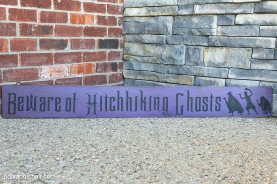 Haunted Mansion Hitchhiking Ghosts sign