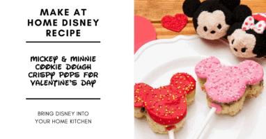 Mickey & Minnie Cookie Dough Crispy Pops