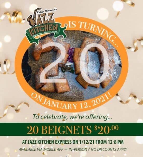 Ralph Brennan's Jazz Kitchen 20th